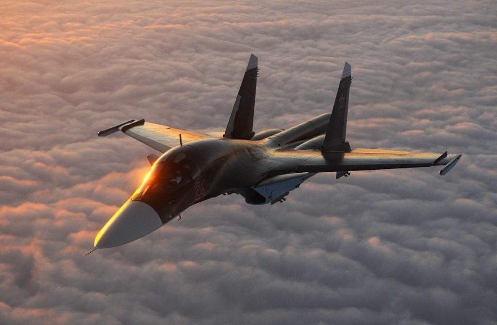 Два российских бомбардировщика Су-34 столкнулись в воздухе