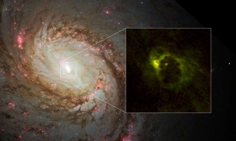 """""""Хаббл"""" обнаружил нечто странное вокруг черной дыры"""