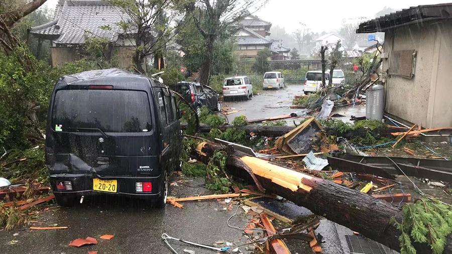 "Тайфун ""Хагибис"" обрушился на Японию"