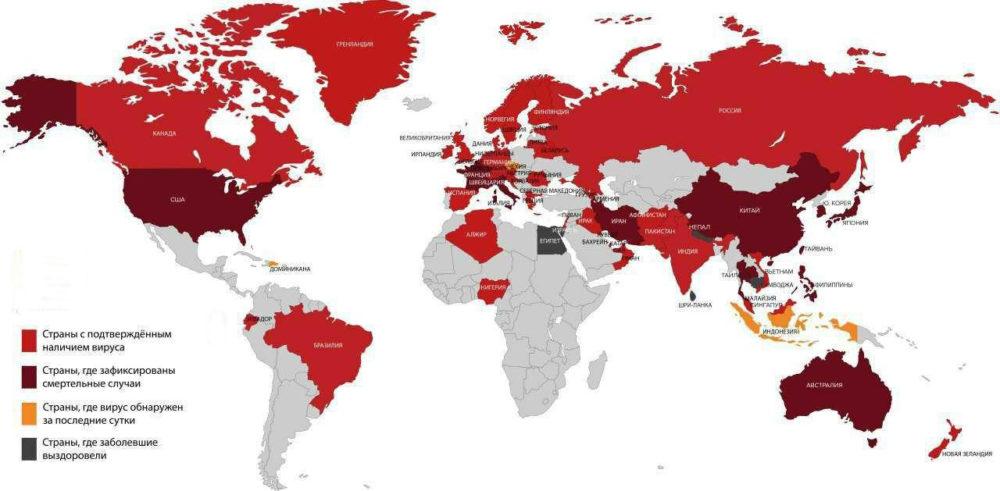ВОЗ: наиболее активен коронавирус в США, России и Бразилии
